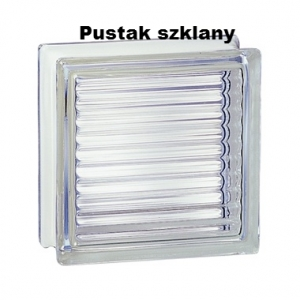 198 Clear Reeded EI15 E60 pustak szklany luksfer