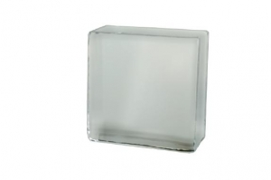 Cegła szklana Crystal Collection White 10 x 10 x 5